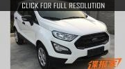 Appeared first live photos of the updated 2018 Ford EcoSport