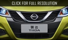 Nissan unveiled the teaser of updated Chinese version of the hatchback Tiida
