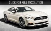 2015 Ford Mustang white #3