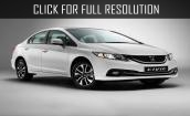 2015 Honda Civic white #4