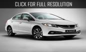 2015 Honda Civic white #4