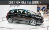 2015 Honda Fit Ex black #4