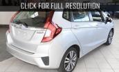 2015 Honda Fit Ex white #4