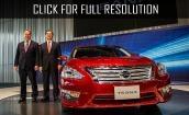 2015 Nissan Teana red #3