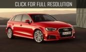 2017 Audi A3 red #2