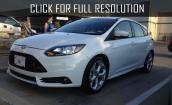 White Ford focus #1